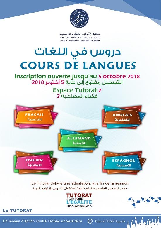 cours de langue 2018 2019